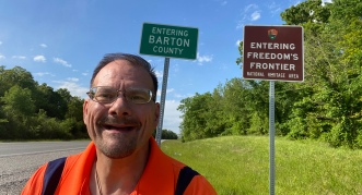 Entering the County of my birth Barton, County
