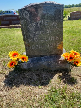 My Great Grandma Effie Cline's grave