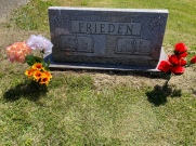 My Grandma Ruby and Grandpa Fred's graves. Grandpa Fred passed when I was a toddler, Grandma Ruby passed at 99 in November 2012.