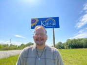 Entering Kansas to go have dinner at a family favority Chicken Mary's.