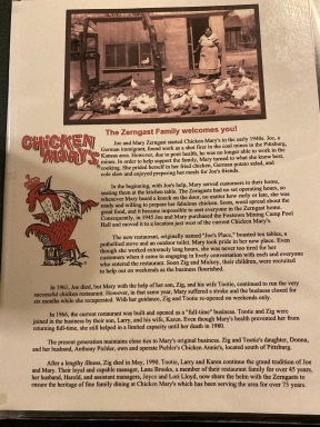 The storyof Chicken Mary's.