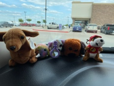 Mini Buc-Cee joining the others on my dash.